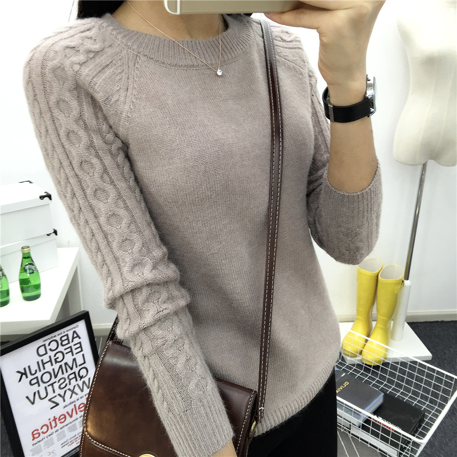 Women 2017 Winter O neck Knitted Cashmere Sweater Top Femme ...