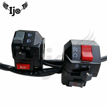 1 pair moto controller scooter parts unviersal 22MM handlebar switches control for honda suzuki yamaha motorcycle switch