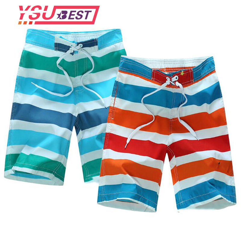 New Beach   Shorts   Boys Swimwear Liner Mesh Sweat Swimming Trunks Siwmsuits Boys Bathing Suits Quick Dry Surf Striped Surf   Shorts