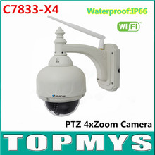 Vstarcam C7833-X4 PTZ IP Camera 2.8~12mm 4X Zoom Wireless HD 720P CCTV Camera Onvif Infrared WIFI Outdoor Waterproof Dome Camera