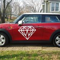 HotMeiNi 58cm x 40.6cm 2 x Diamond Graphic Car Sticker For Cars Door Side Truck Rear Windshield Vinyl Decal 8 Colors