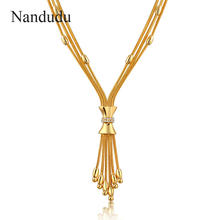 Nandudu Fashion metallic style Necklace New arrival Women Girl Jewelry Gift CN170(China)