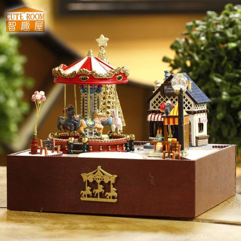 Muebles DIY Casa de Muñecas Wodden Miniatura Casas de Muñecas - Muñecas y accesorios