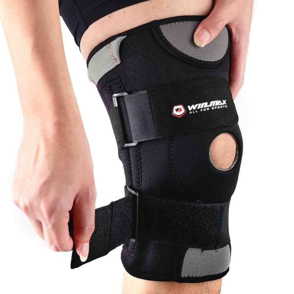 WINMAX Neopreen Elastische Open Patella Verstelbare Basketbal Kneepad Rodilleras Soutien Joelheira Knee Pad Brace Protector Ondersteuning