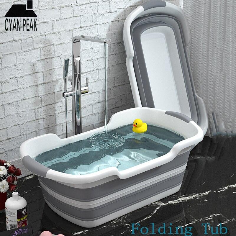 1 PC Portátil Dobrável Banheira Do Bebê Chuveiro Portátil Capacidade de Armazenamento de Lavagem de Silicone Não-Deslizamento Cão Banheiras de Spa Do Pé banho de Banheira de Água Quente