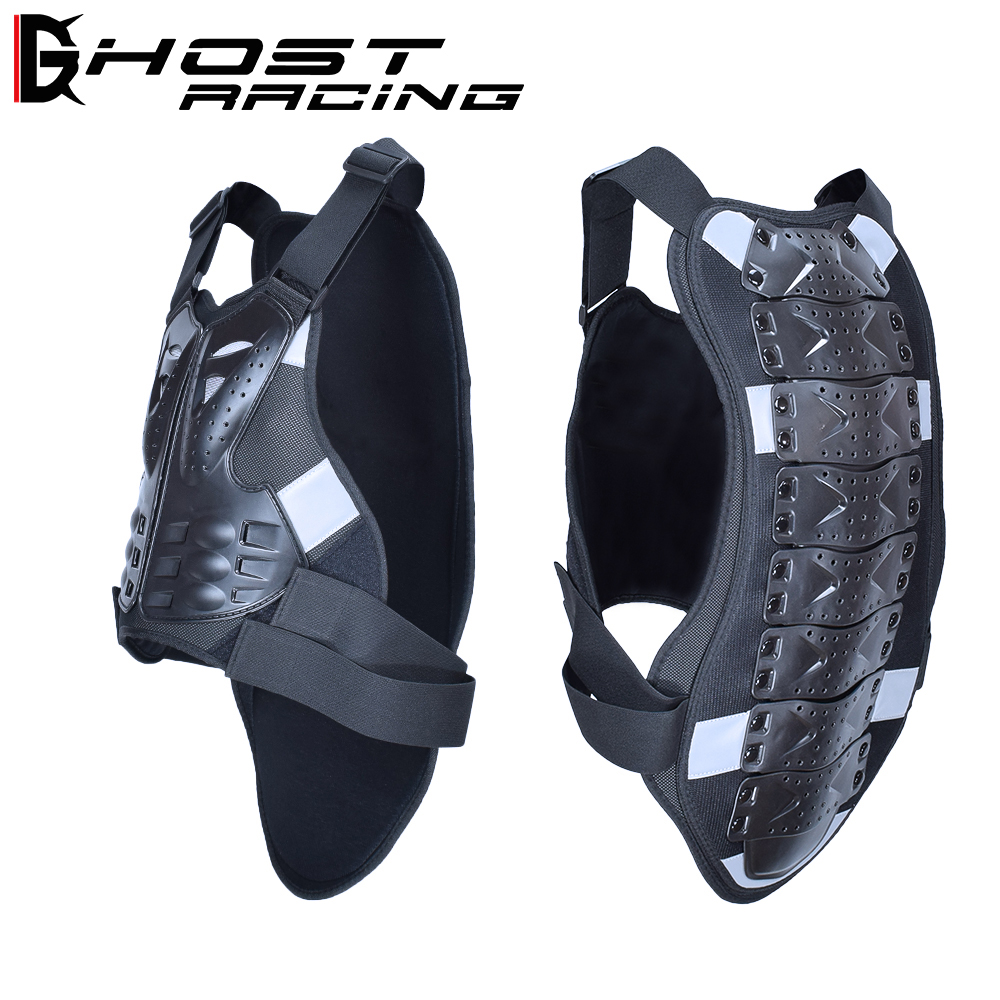 GHOST RACING Motocross Racing Armor Motorcycle Riding Body Protection Jacket With A Reflecting Strip Moto Armor