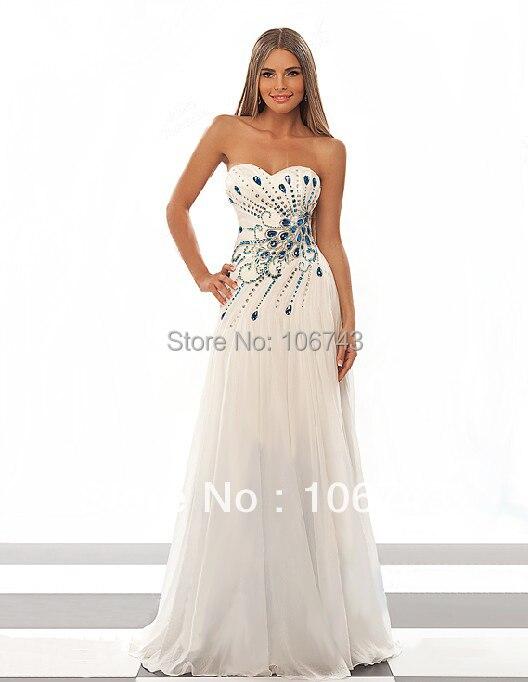 Envío Gratis 2018 nuevo estilo caliente blanco vestidos sexy novias ...