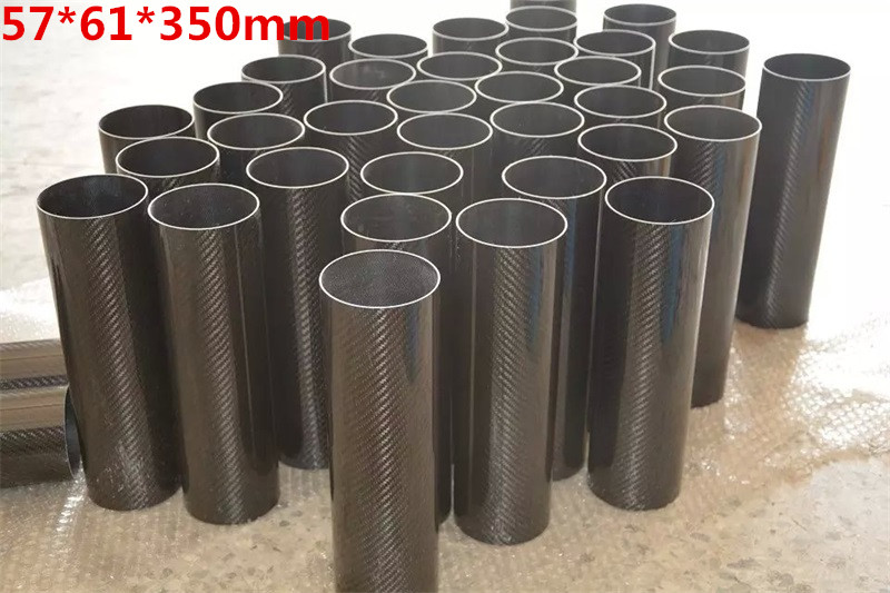 OD61mm x ID57mm length 350mm High Quality 3K  glossy/matte plain twill Carbon Fiber tube Suitable for model aircraft accessories 5pcs 304 stainless steel capillary tube 3mm od 2mm id 250mm length silver for hardware accessories