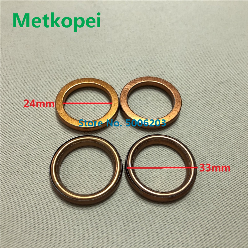 Motorcycle Scooter Moped JH70 DY100 JY110 TR36L Exhaust Pipe Muffler Header Gasket  Seal O-Ring For JH 70 36cc 70cc 100cc 110cc(China)