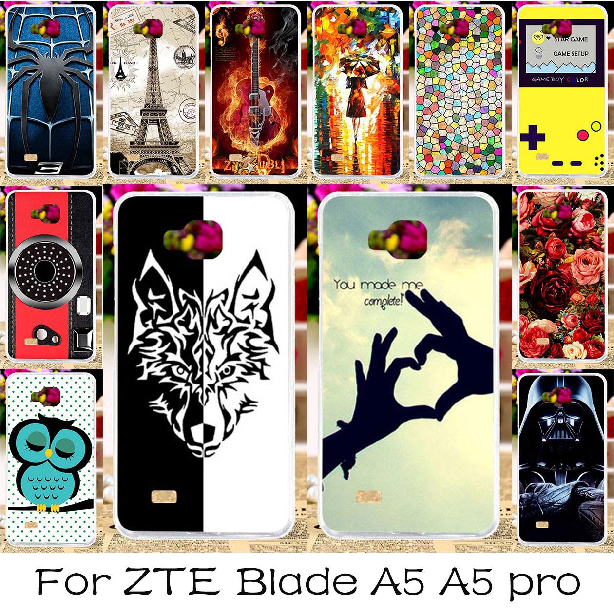 TAOYUNXI DIY Silicone Phone Case Cover For ZTE Blade AF3 A3 ZTE Blade A5 A5 pro AF 3 C341 T221 ZTE OPEN C2 Housing Bag Skin Case