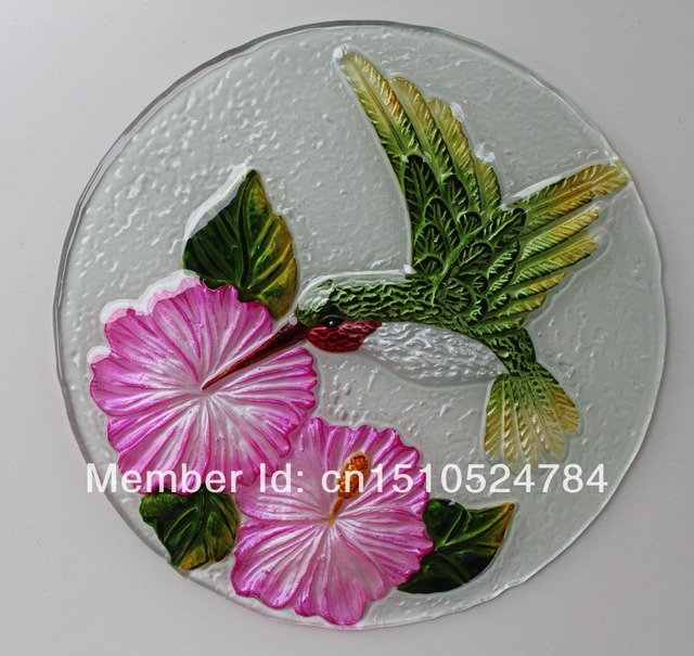 Hand-carved model hot melt glass hand-painted birds butterflies & Hand carved model hot melt glass hand painted birds butterflies ...