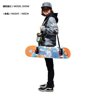 Image 4 - Mackarプロスケートボードカスタムキャリングケース1000dナイロンシングルショルダーロングボード弦男性耐久性テープはフリースケートボード