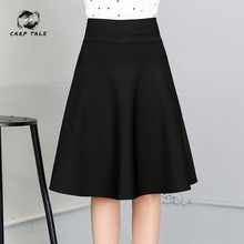 Autumn and winter female Korean version of the pleated skirt in long paragraph A word anti-going