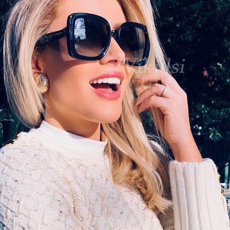 Gafas de sol 2018 cuadradas para mujer, gafas de sol de marca de lujo, gafas de diseñador, gafas de sol para mujer, gafas UV400 para mujer