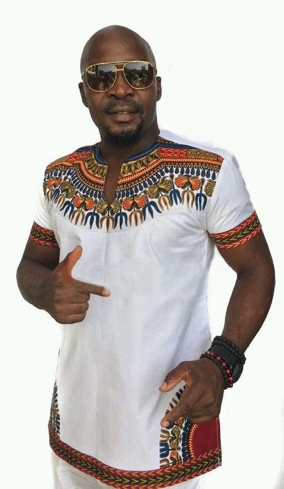 2018 summer autumn mens African clothing dashiki clothes knitting stitching Batik printing short sleeve tops man T shirt