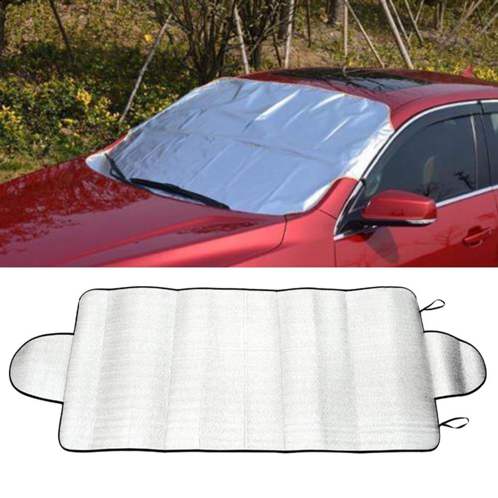1 шт. 150 см х 70 см автомобильное заднее стекло лобовое стекло Солнцезащитный козырек передний отражатель с УФ-защитой солнцезащитный козырек для автомобильных оконных крышек солнцезащитный козырек серебристый