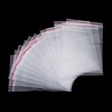 100 шт./упак. Закрывающимися Прозрачный Пластик самоклеющиеся мешок для застежки-молнии мешок ювелирных изделий на молнии с замком мешочек pe Кухня упаковочные материалы