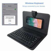 Luxury PU Leather Wireless Keyboard Phone Case For IPhone Protective With Bluetooth Keyboard For IPhone X