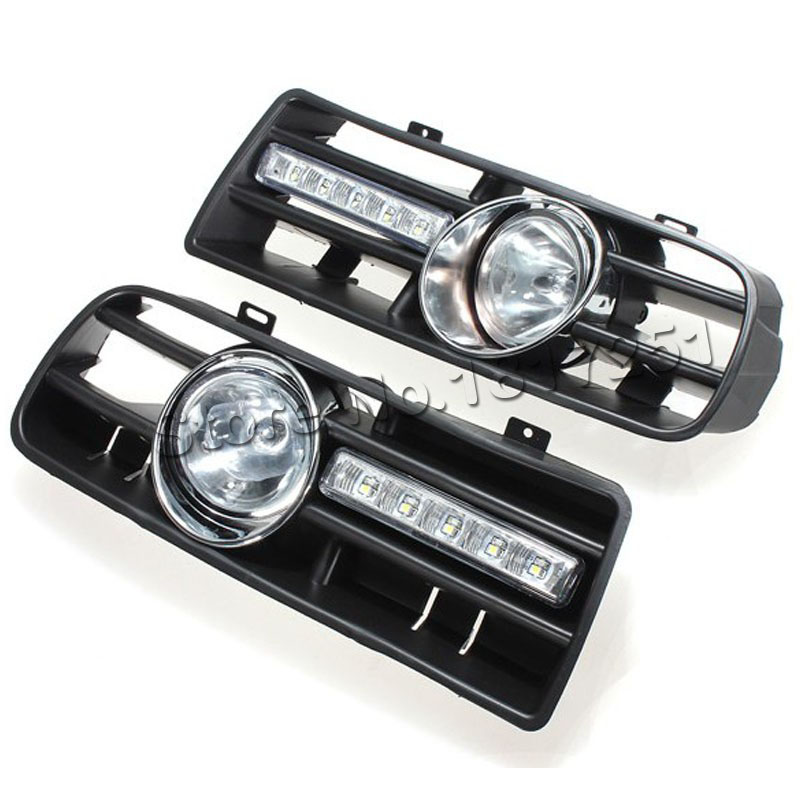 Bumper Grille Grill DRL daytime running LED fog lamp lights for VW golf MK4 1997 2006