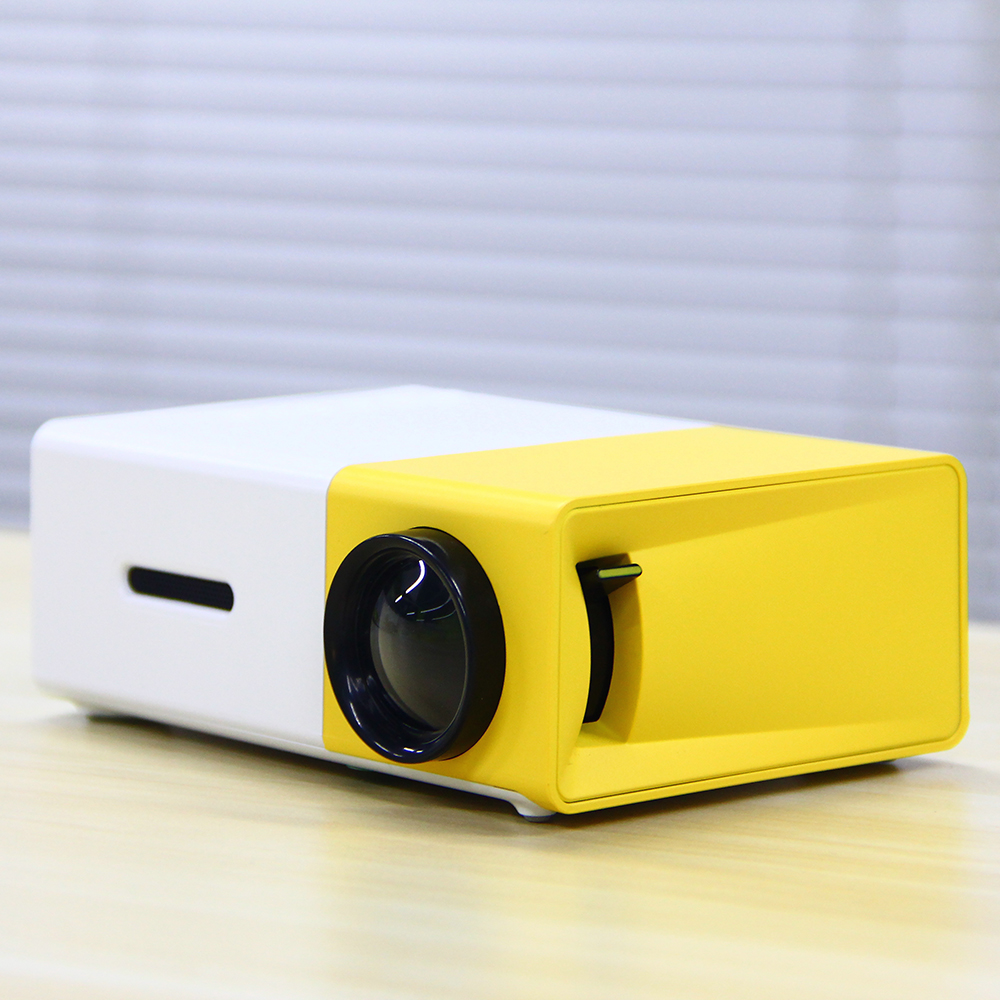 Mrs win YG300 Photo Studio Backgrounds Projector Portable Camera & Photo Video Home Cinema Media Player w/ HDMI/USB White Yellow portable mini projector home cinema digital smart led projectors support 1080p movie pc video game can use mobile power supply
