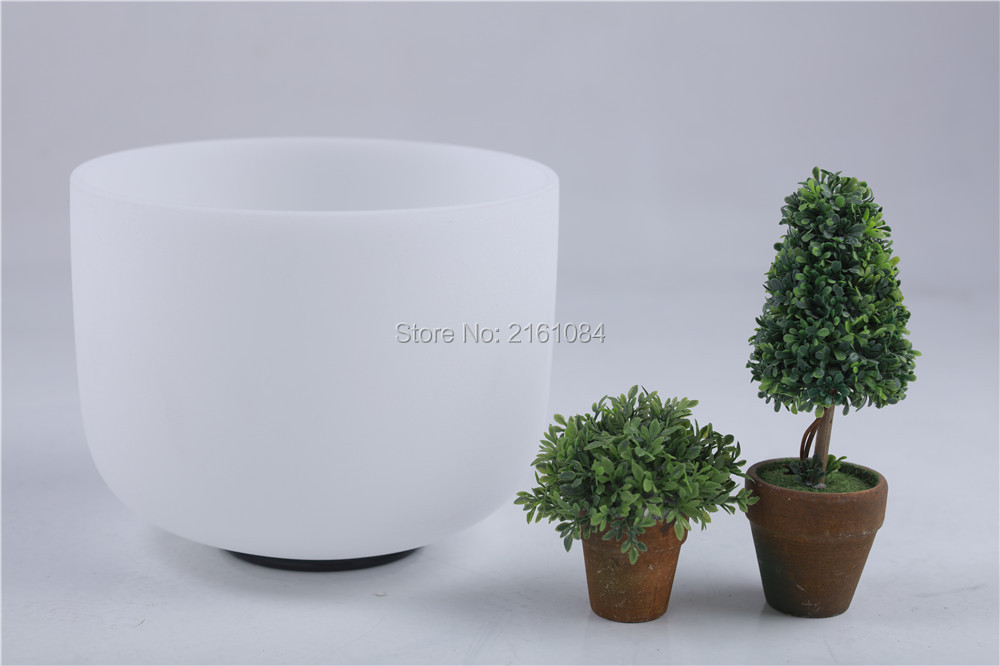 Frosted C# Root Chakra Quartz Crystal Singing Bowl 7 with free suede and o ring