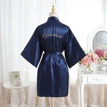 BZEL Bridal Party Robe Letter Bride On The Robe Back Women S