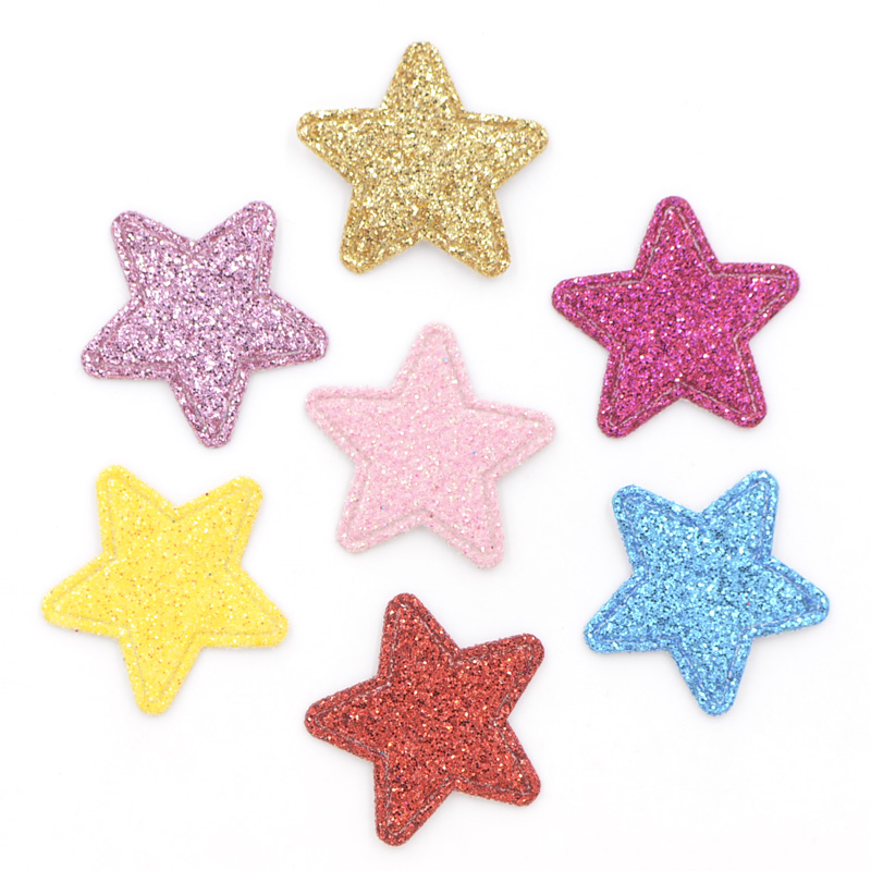 80 шт. блеск кожи патчи звезда Форма аппликации для ремесел одежда придерживаться на DIY Заколки для волос Скрапбукинг декора K69