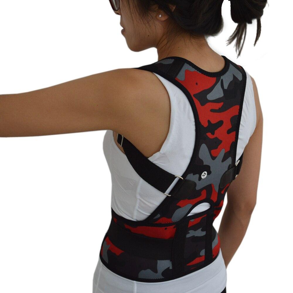 Neues Produkt! rücken Schulter Lage-korrektive Stützgürtel Brace Schulter Rückenstütze Camouflage Rot und Blau Kostenloser Versand