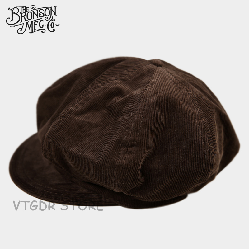 02ec95c1 US $32.99 40% OFF|Bronson Vintage Corduroy Flat Cap Winter Classic Men's  Newsboy Hat Driving Brown-in Men's Newsboy Caps from Apparel Accessories on  ...