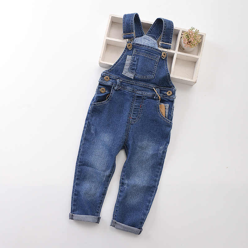 bba79510850 New 2018 Spring Fashion Baby boys gilrs denim jeans Stretch jeans cowboy Overalls  Children jumpsuit denim