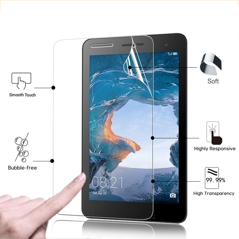 Ultra Thin HD LCD Screen Protector Film For Huawei MediaPad T2 BGO-DL09 7.0'' Tablet PC Clear Glossy Protective Film + Tools