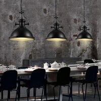 Ретро обеденный стол бар люстра творческий Лофт творческая личность ретро Утюг абажур GY41