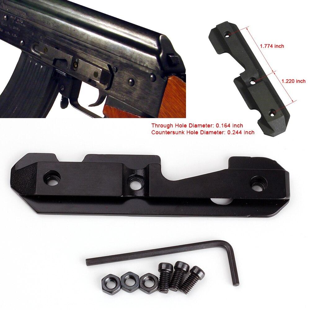 AK47 stahl schwalbenschwanz Seite Platte Montieren Für sowohl gefräst oder gestempelt empfänger. Akzeptiert eine vielzahl von AK seite halterungen