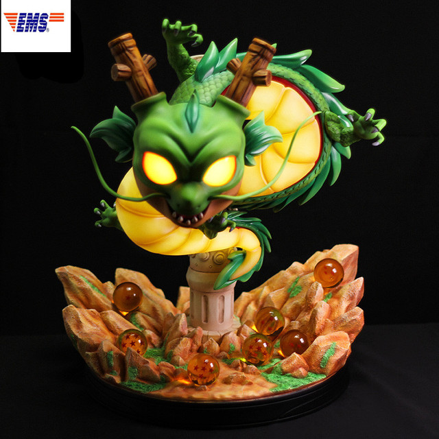 43CM Anime Dragon Ball Shenron Night Lights With LED Light Resin Statue Action Figure Collection Wall Hanging Decoration G2618