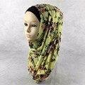 Мусульманский хиджаб 11 цветов Мода Джерси Хлопок Повязка цветочный дизайн Женщин шарфы и палантины Бесплатная Доставка Исламский Хиджаб