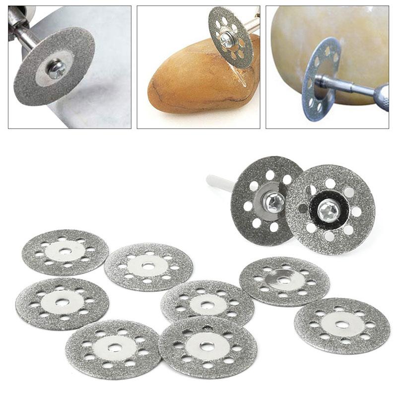 10Pcs/set Dremel Accessories Diamond Grinding Wheel Diamond Discs Circular Cutting Disc Grinding Wheel Saw Dremel Rotary Tool