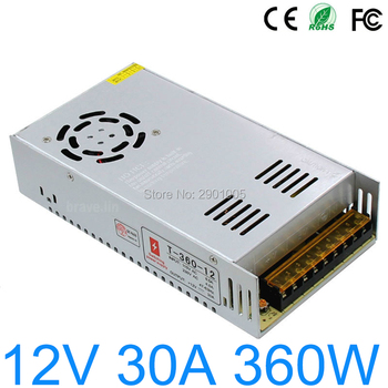 цена на AC110V 220V to DC 12V 30A 360W Power Supply Transformer Regulated Switching  Converter For RGB LED Strip Light camera Led Driver
