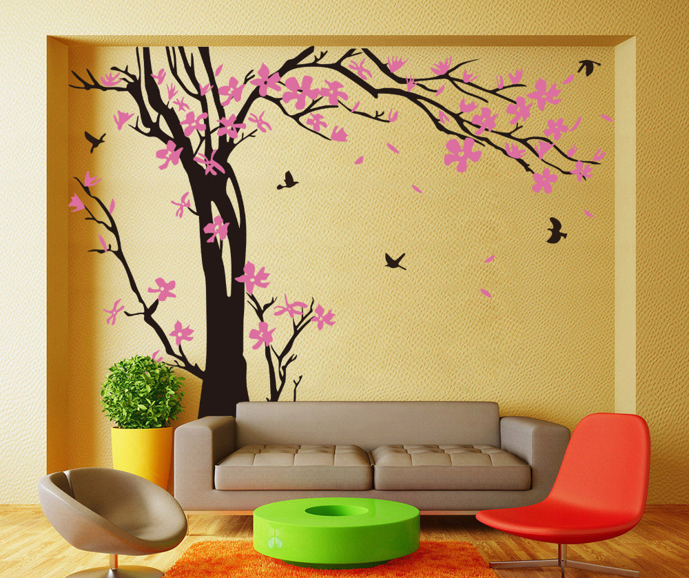Perfect Cherry Tree Wall Art Frieze - Wall Art Collections ...