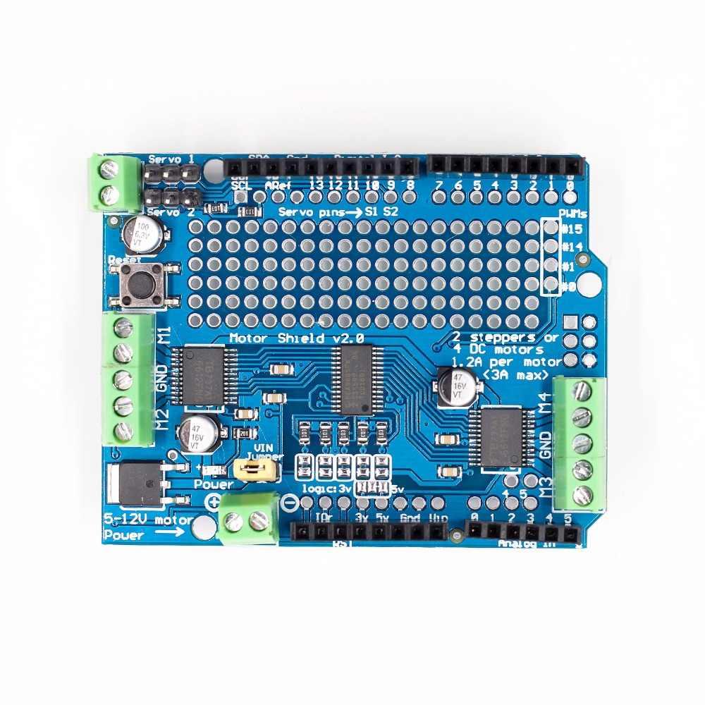 معيار IIC I2C TB6612 Mosfet محرك متدرج PCA9685 PWM سيرفو سائق درع V2 روبوت PWM Uno Mega R3 استبدال L293D