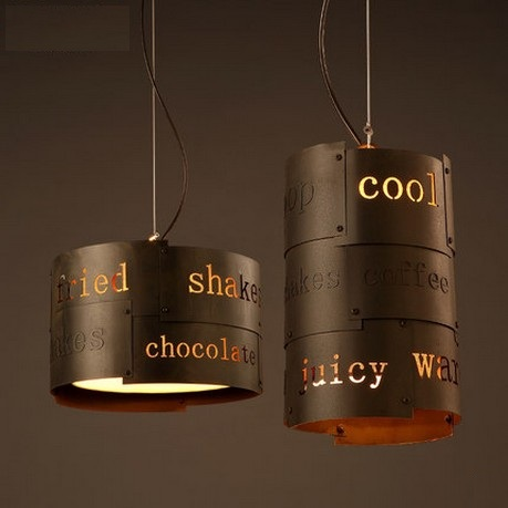 Loft Style Creative English Droplight LED Pendant Light Fixtures Vintage Industrial Lighting For Dining Room Hanging