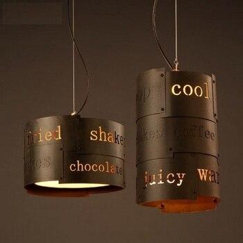 Loft สไตล์ Bab Droplight LED จี้โคมไฟอุตสาหกรรม Vintage โคมไฟสำหรับห้องรับประทานอาหารแขวนโคมไฟ