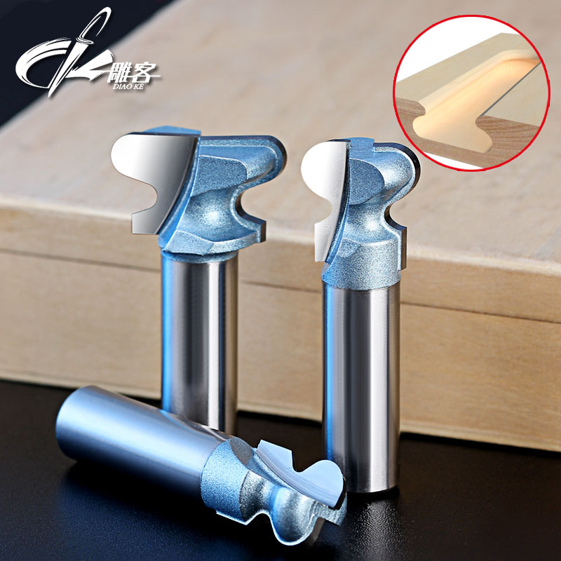1PCS 12.7mm SHK  Woodworking Tools Router Bits Tungsten Carbide Bit Round Arc T-TRACK Hinge Router Bit 1 2 5 8 round nose bit for wood slotting milling cutters woodworking router bits