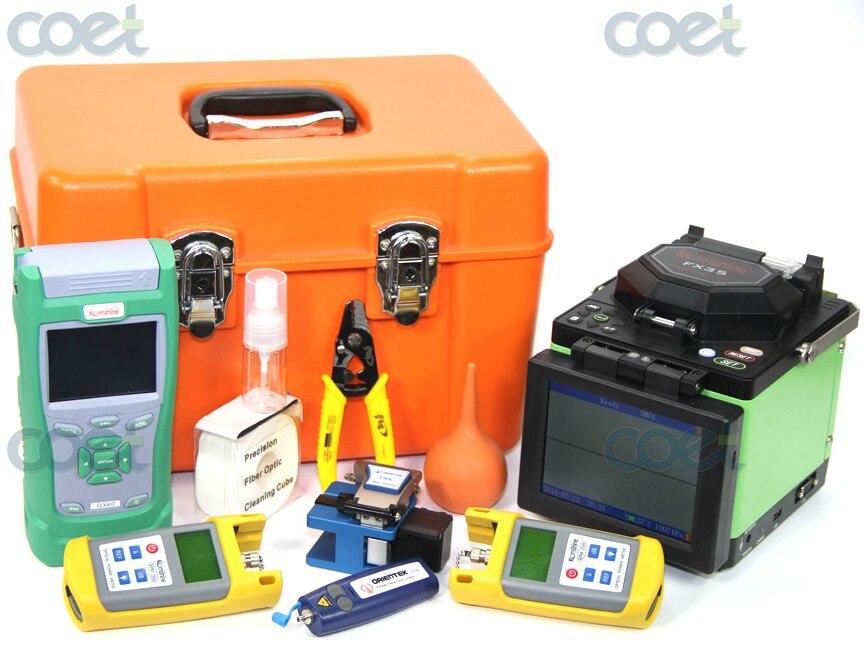 Core-Core & Clad - Clad Alignment FTTH Fusion Splicer Kit Komshine FX35 Splcier+ 1310/1550nm 30/28dB QX40 OTDR +OPM+ OLS+ VFL