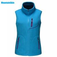 2017 Femmes de Gilet Hiver Polaire Softshell Sans Manches Vestes Sports de Plein Air Marque Vêtements Manteau Randonnée Ski Femme Gilets MB011