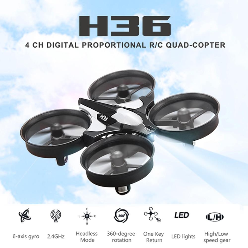 Mini Quadcopter Med Headless Mode En Key Return Flying Rc Helikopter Leker JJRC H36 Brinquedos De Kontroll Remoto VS Drone H8