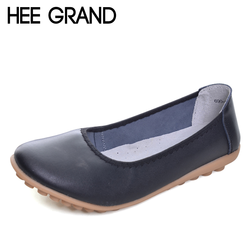 HEE GRAND 2017 New Flats Solid Plain PU Slip On Loafers Casual Shoes Woman Summer Women Shoes 5 Colors Size 35-40 XWD2007 hee grand summer gladiator sandals 2017 new platform flip flops flowers flats casual slip on shoes flat woman size 35 41 xwz3651
