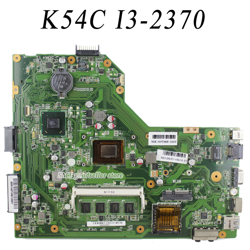 K54C A54C X54C motherboard For Asus REV2.1 Mainboard With i3 processor DDR3 PGA989 100% tested  original notebook motherboard x54c k54c for asus rev 2 1 system pc mainboard with ram on board