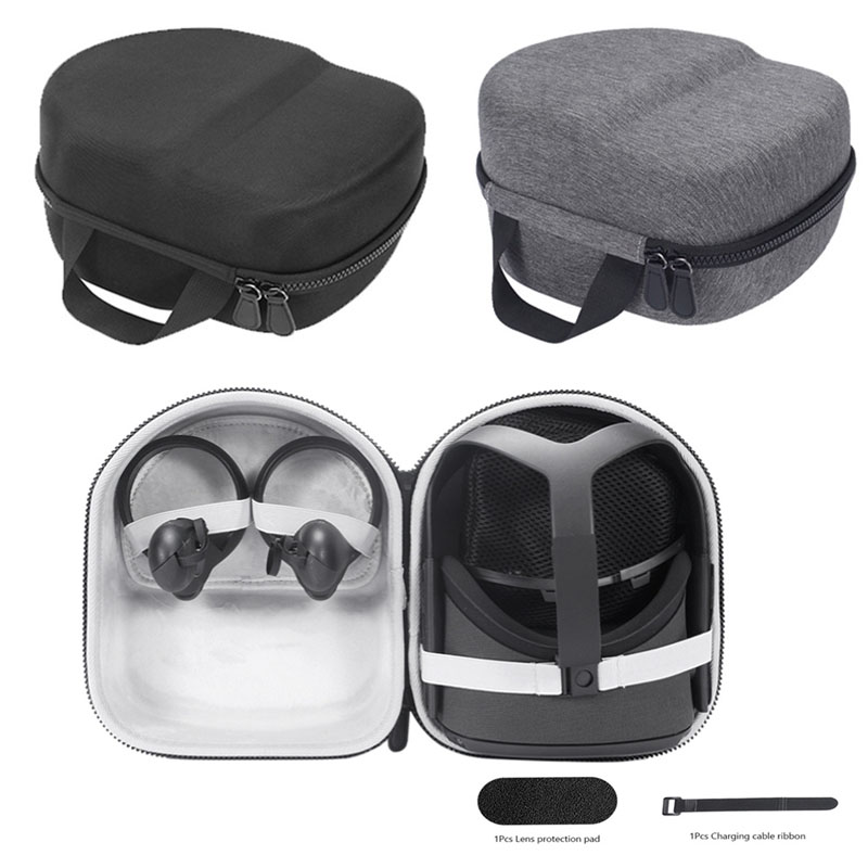 EVA Hard Portable Storage Bag For Oculus Quest All-in-one VR Gaming Headset Travel Carrying Case Cover Waterproof Protective Box