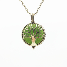 1pc Antiqued Bronze Hollow Tree Of Life Design Copper Magnet Locket Essential Oil Aroma Diffuser Trendy Pendant Necklace Jewelry