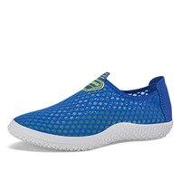 Men Outdoor Walking Shoes Walking Shoes Net Yarn Sports Flat Net Shoes